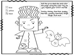 Halloween Apraxia: VC,CV, CVCV words. Roll, Color and Say from Twin Speech, Language & Literacy LLC.