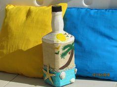 Bottle, Home Decor, Decorated Bottles, Decoration Home, Room Decor, Flask, Home Interior Design, Jars, Home Decoration