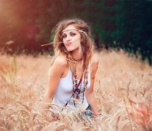 Inspiring picture care free, fun, girl, grass. Resolution: 500x371 px. Find the picture to your taste!