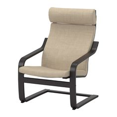 POÄNG Chair IKEA Layer-glued bent beech frame gives comfortable resilience. The high back provides good support for your neck.