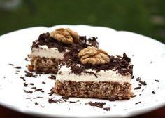 Recept s fotopostupom na výborný orechový koláč, bez múky a s minimom cukru, iného. Testujem ako sa dá piecť bez múky, klasického cukru a dokonca vrámci delenej stravy. Je to celkom výzva. Sweet Recipes, Cake Recipes, Snack Recipes, Dessert Recipes, Cooking Recipes, Snacks, Healthy Deserts, Healthy Sweets, Fitness Cake