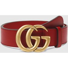 a0b2e9aee1d5 Shop the Leather belt with Double G buckle by Gucci. A black leather belt  with our new Double G buckle.