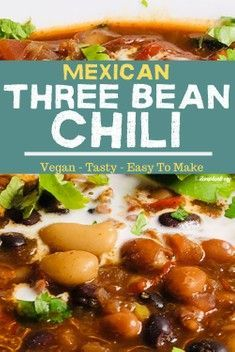 Three beans equals three servings of nutrition including plant based iron. This is a great meatless dinner idea for you and your loved ones Vegan Recipes Plant Based, Delicious Vegan Recipes, Healthy Dinner Recipes, Whole Food Recipes, Vegetarian Recipes, Healthy Meals, Diet Recipes, Recipies, Vegan Lunches
