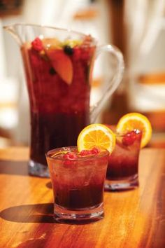 South Beach Sangria -a nice bottle of Perrin Reserve Red would make this fantastic.