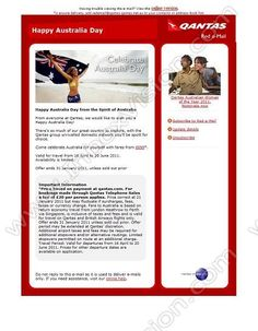 Company:   Qantas Airways Ltd    Subject:   Happy Australia Day               INBOXVISION providing email design ideas and email marketing intelligence.     http://www.inboxvision.com/blog  #EmailMarketing #DigitalMarketing #EmailDesign #EmailTemplate #InboxVision #Emailideas #NewsletterIdeas