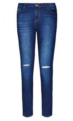 City Chic - RIPPED KNEE SKINNY JEAN - Women's Plus Size Fashion City Chic - City Chic Your Leading Plus Size Fashion Destination #citychic #citychiconline #newarrivals #plussize #plusfashion