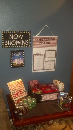 At Home Movie Theater/Concession Stand! I do need to make this for the basement.
