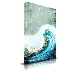 'The Great Wave' Painting Print on Wrapped Canvas