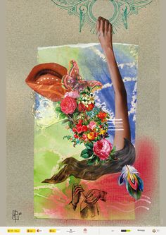 "Poster Sta. Teresa de Ávila  [hybrid - handmade +digital collage] to book ""Santa Teresa de Ávila en Brasil"" by Hannah23 dezembre 2015 #hannah23 #collage #h23collagem"