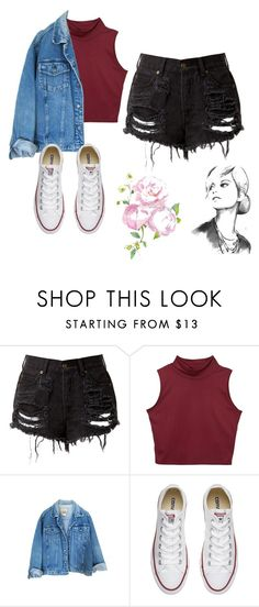 """Untitled #198"" by luchimahone ❤ liked on Polyvore featuring Converse"