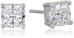Platinum Plated Sterling Silver Cushion-Cut Cubic Zirconia Studs (2 cttw) Amazon Collection http://www.amazon.com/dp/B0028K3LGA/ref=cm_sw_r_pi_dp_DHxswb1WZBFRZ