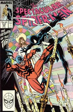 Spectacular Spider-Man (1976 1st Series) 137 Marvel Comics Peter Parker Comic book covers Super Heroes Villians Amazing Astonishing silver bronze modern age