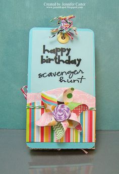 Happy Birthday Scavenger Hunt Tags- fun way to find your birthday presents