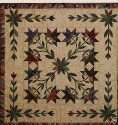 Lovely, could even make into a four block quilt with expanded border.