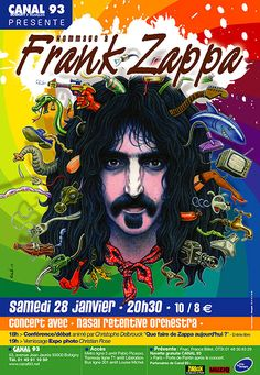 """CANAL 93 """"Hommage à Frank Zappa"""" Poster by Solé"""