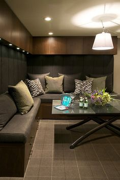 Basement Seating Design Ideas, Pictures, Remodel, and Decor - page 16