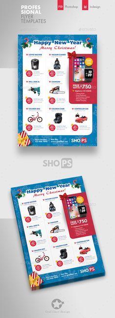 Buy Christmas Products Flyer Templates by grafilker on GraphicRiver. Christmas Products Flyer Templates Fully layered INDD Fully layered PSD 300 Dpi, CMYK IDML format open Indesign o. Christmas Flyer, Old Christmas, Vintage Christmas, Brochure Design, Flyer Design, Text Fonts, Catalog Design, Business Flyer Templates, Corporate Flyer