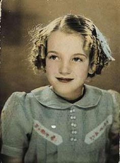 Norma Jeane Baker as a child.