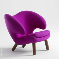artsy violet chair brings creative personality into the room