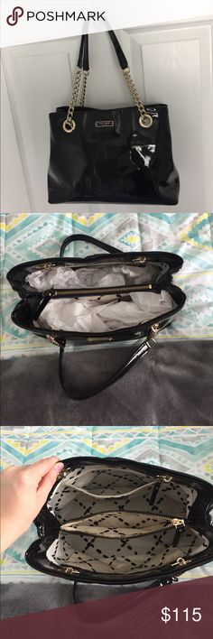 Kate Spade Black Shoulder Bag Kate Spade Antoinette Patent Leather Shoulder Bag, Montrose Collection, WKRU1293 (Black). Only used 2 times! Great condition, one tiny stain as shown in last picture. Price negotiable, no trades. kate spade Bags Shoulder Bags