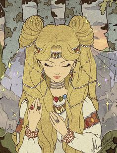 tsarevnna:  Princess Serenity reimagined in Russian folklore style, by MoonSelena