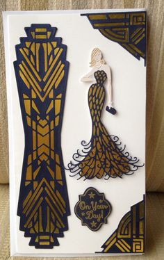 Tattered lace glamour puss and tonic Art Deco