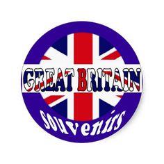 British Tourism Souvenirs Union Jack Sticker