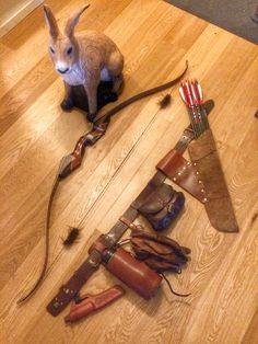 Bushcraft belt for the archer Traditional Archery & Larp Arrows Supplies https://www.etsy.com/shop/ArcherySky