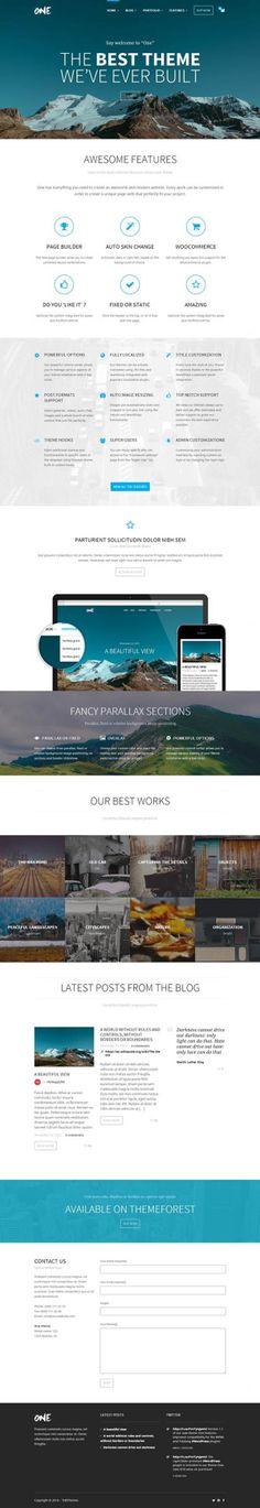 One – The Creative Multipurpose Portfolio theme #html5wordpressthemes #responsivewordrepssthemes