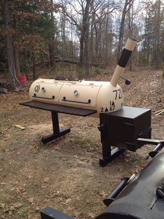 Desert Storm Veteran Pit Custom Built by a Friend Grill Oven, Barbecue Grill, Grilling, Bbq Smoker Trailer, Bbq Pit Smoker, Smoker Designs, Bago, Custom Bbq Pits, Propane Smokers