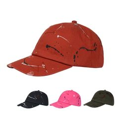 Cotton Paint Distressed Washed Men Polo Baseball Cap Sun Sports Dad Hat Flex Fit #Goldtop #BaseballCap