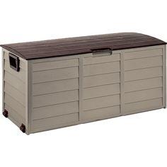 Foldable Garden Storage Box Mocha - Garden Sheds u0026 Storage - Accessories u0026 Consumables - Gardening  sc 1 st  Pinterest & Keter Hollywood Outdoor Storage Box  Bunnings $78 | House ...
