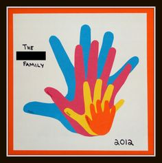 Familie would be a fun project to do with the families in my class so they have a family art piece Family Art Projects, Family Crafts, Fun Projects, Preschool Family Theme, Preschool Crafts, Family Day Activities, Preschool Rules, Family Night, My Family