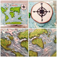 birthdaycake, födelsedagstårta, map, world map, worldmapcake, worldmapbirthdaycake, atlas atlas cake , tårta, cake, sugarpaste, fondant, fluff, decorations, cake decorations, tårtdekorationer, travel, travel cake, travelbirthdaycake, kompassros, marsipan,