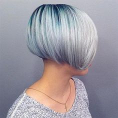 Turquoise Root to Silver Color Melt | Modern Salon