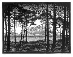 PINETA OF CALVI by M.C. ESCHER