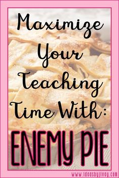 Use the book Enemy Pie to teach multiple skills in multiple subjects. See how to maximize your teaching time with just one mentor text!