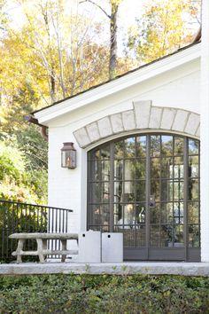 Steel doors - patio view