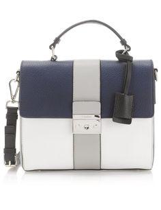 Heron Leather Satchel | Calvin Klein Collection | Avenue32