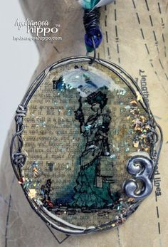 No bezel? No problem! How to Make a Resin Paper Pendant with ICE Resin - a Blog Hop + Faber-Castell | Hydrangea Hippo http://buff.ly/RO6oL9