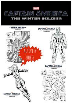 Captain America The Winter Soldier ActivitySheets #CaptainAmerica #WInterSoldier #Marvel