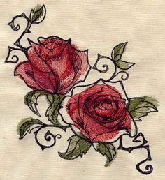 Ravishing Painted Roses | Urban Threads: Unique and Awesome Embroidery Designs