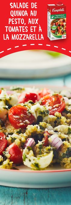 Tomato and Mozzarella Quinoa Pesto Salad Recipe Veggie Recipes, Salad Recipes, Vegetarian Recipes, Cooking Recipes, Healthy Recipes, Pesto Salad, Nuts And Seeds Recipes, How To Eat Better, Recipes