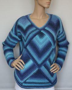 Crochet Jacket, Knit Crochet, Knitting Patterns, Sewing Patterns, Pullover, Long Scarf, Crochet Fashion, Crochet Clothes, Bunt