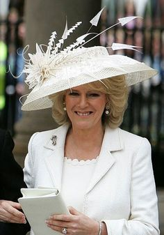 Duchess of Cornwall, April 9, 2005 in Philip Treacy   Royal Hats