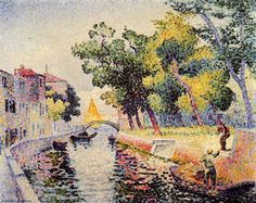 Ponte San Trovaso, huile sur toile de Henri Edmond Cross (1856-1910, France)