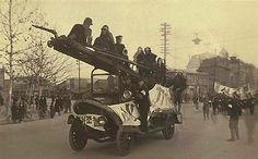 1925년 서울. 당시 소방차의 모습.