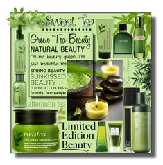 Green Tea Beauty by igiulia on Polyvore featuring beauty, Armani Beauty, La Mer, Innisfree, Origins, TONYMOLY, Whish and GreenTeaBeauty