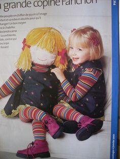 2 patrons : patron robe chasuble taille 3ans + patron poupée chiffon taille 93 cm patron en taille réelle tout est expliqué pour la création et le montage de la poupée 2 p - 2427931