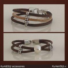 Winterstijl! Handgemaakte armbanden van kurk.